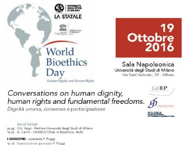 World Bioethics Day: Conversations on human dignity, human rights and fundamental freedoms
