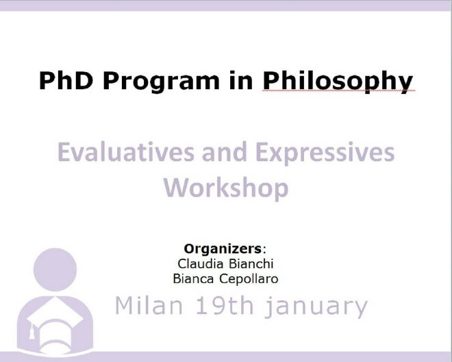 Evaluatives and Expressives Workshop