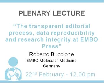 Plenary Lecture: The transparent editorial process, data reproducibility and research integrity at EMBO Press