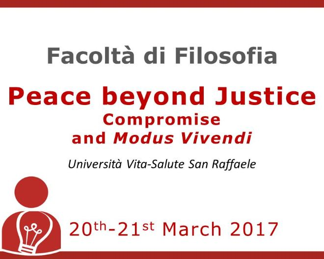 Peace beyond Justice. Compromise and Modus Vivendi