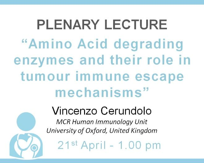 "Plenary Lecture: ""Amino Acid degrading enzymes  and their role in tumour immune  escape mechanisms"""