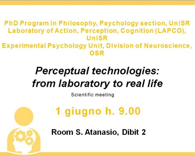 Perceptual technologies: from laboratory to real life – disponibili gli abstract