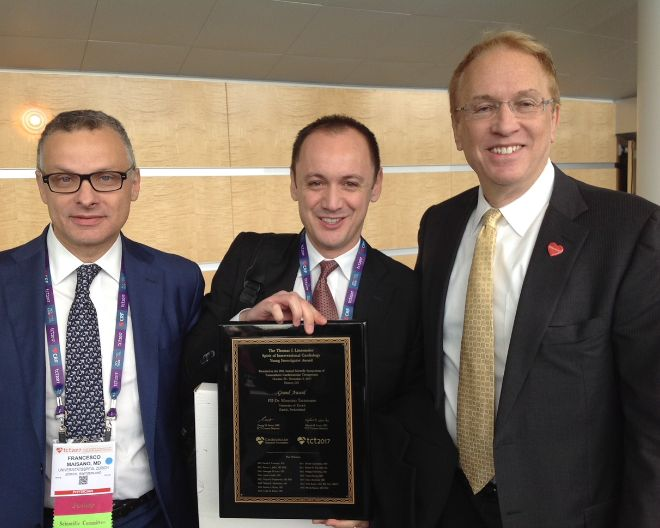 Dr. Taramasso, former UniSR student, awarded as the most promising interventional cardiologist in the world