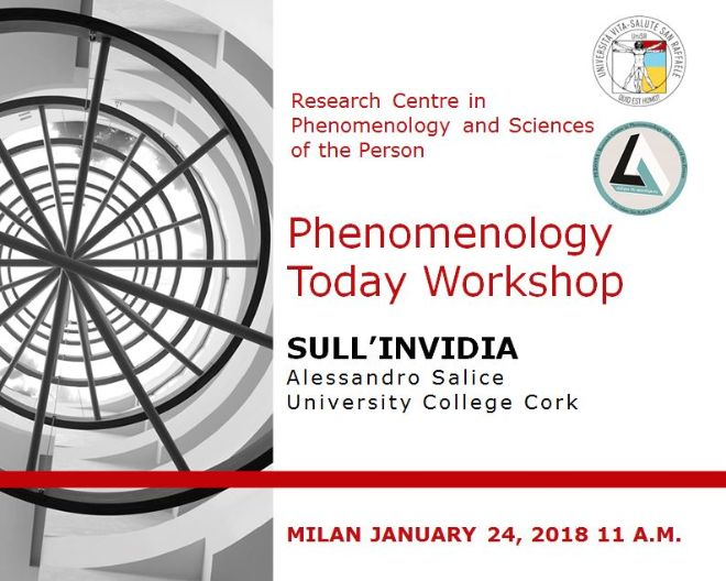Phenomenology Today Workshop: Sull'Invidia