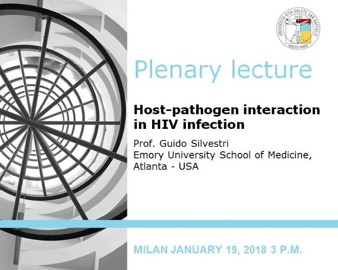 "Plenary Lecture: ""Host-pathogen interaction in HIV infection"""