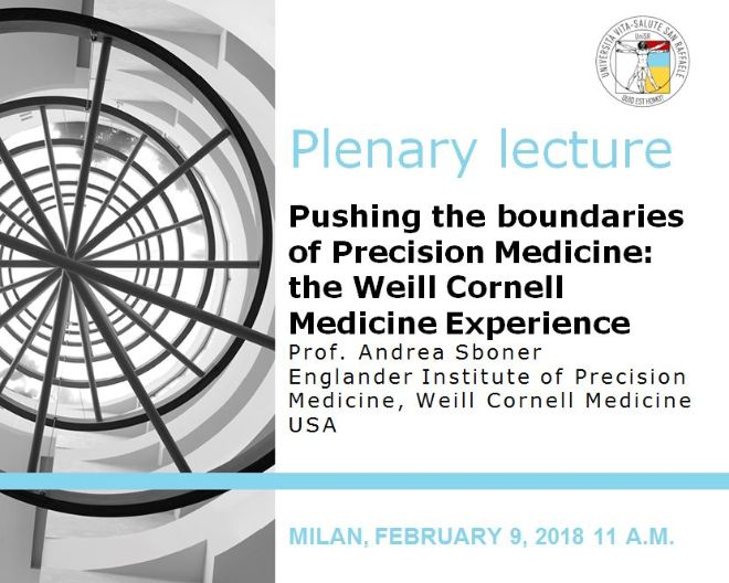 "Plenary Lecture: ""Pushing the boundaries of Precision Medicine: the Weill Cornell Medicine Experience"""