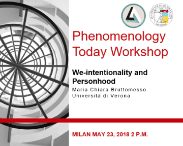 Workshop Phenomenology Today – We-intentionality and Personhood