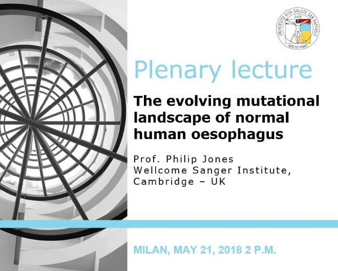 "Plenary Lecture: ""The evolving mutational landscape of normal human oesophagus"""