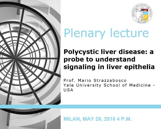 "Plenary Lecture: ""Polycystic liver disease: a probe to understand signaling in liver epithelia"""
