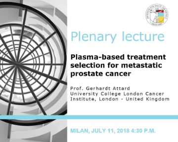 "Plenary Lecture: ""Plasma-based treatment selection for metastatic prostate cancer"""