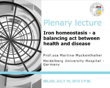 "Plenary Lecture: ""Iron homeostasis – a balancing act between health and disease"""