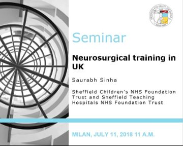 "Seminar: ""Neurosurgical training in UK"""