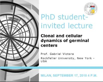 "PhD Student – Invited Lecture: ""Clonal and cellular dynamics of germinal centers"""