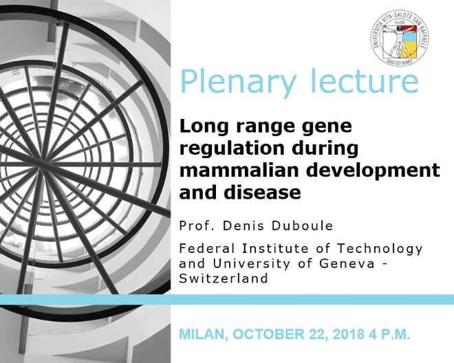 "Plenary Lecture: ""Long range gene regulation during mammalian development and disease"""