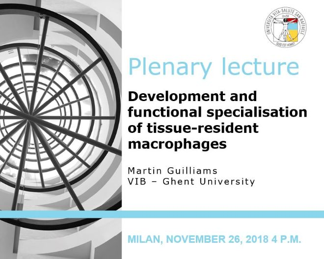 "Plenary Lecture: ""Development and functional specialisation of tissue-resident macrophages"""