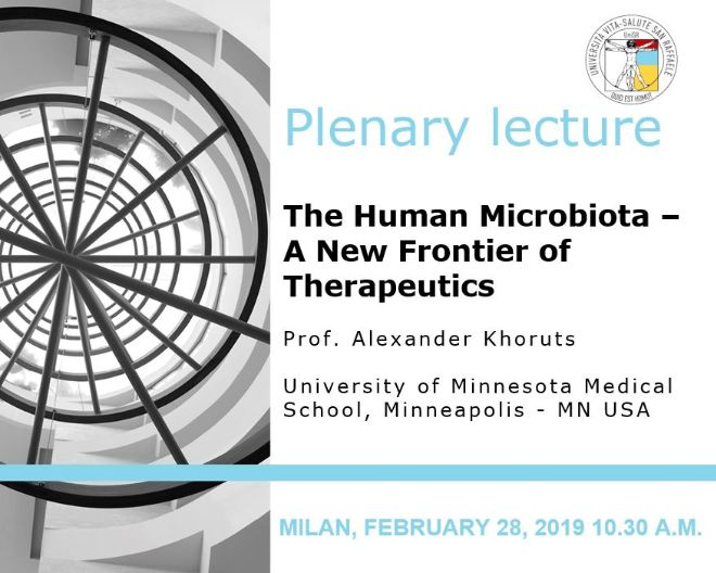 "Plenary Lecture: ""The Human Microbiota – A New Frontier of Therapeutics"""