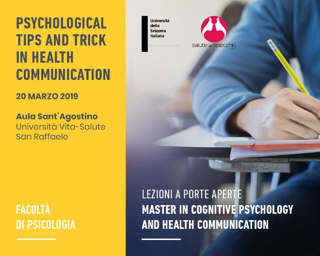 Lezioni a porte aperte: Cognitive Psychology and health communication