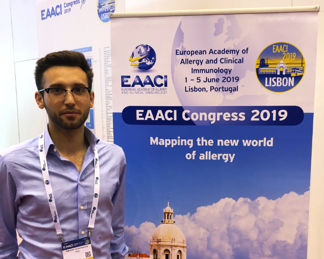 Alberto Guarnaccia is the only Italian invited student at the EAACI Annual Congress