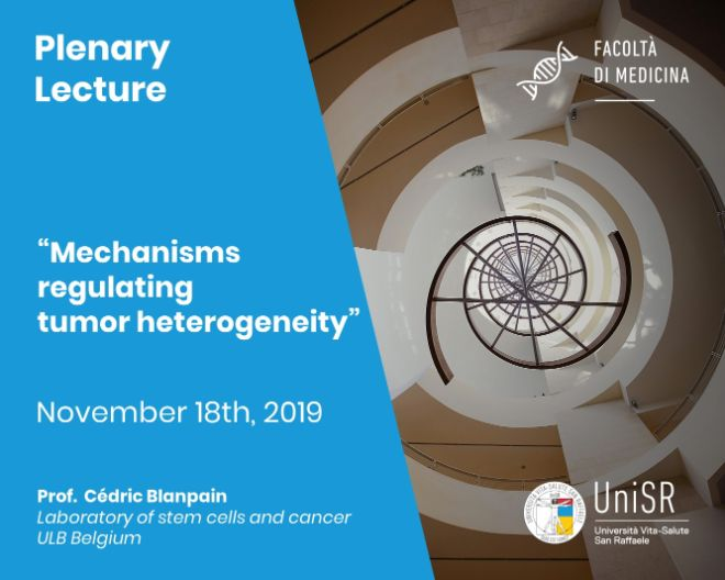 "Plenary Lecture: ""Mechanisms regulating tumor heterogeneity"""