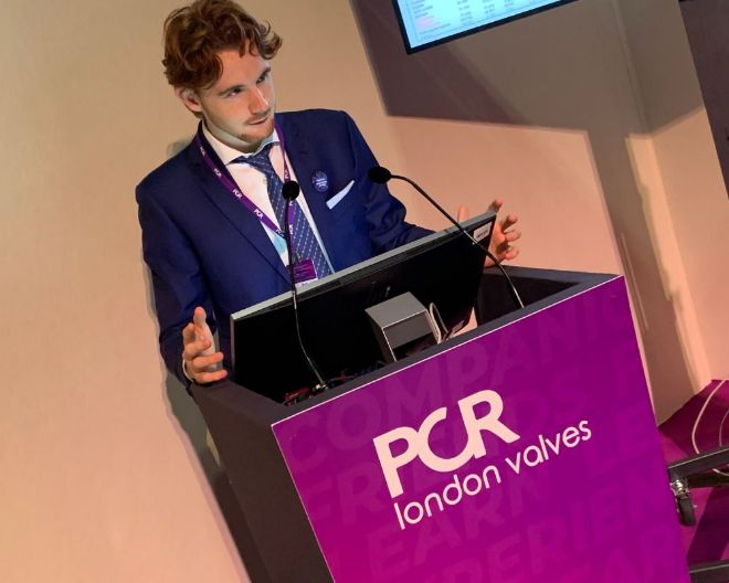 Edoardo Zancanaro, studente MD Program, al Congresso PCR London Valves