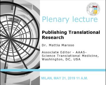 "Plenary Lecture: ""Publishing Translational Research"""
