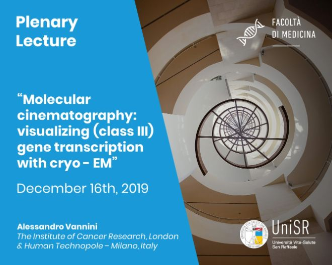 "Plenary Lecture: ""Molecular cinematography: visualizing (class III) gene transcription with cryo - EM"""
